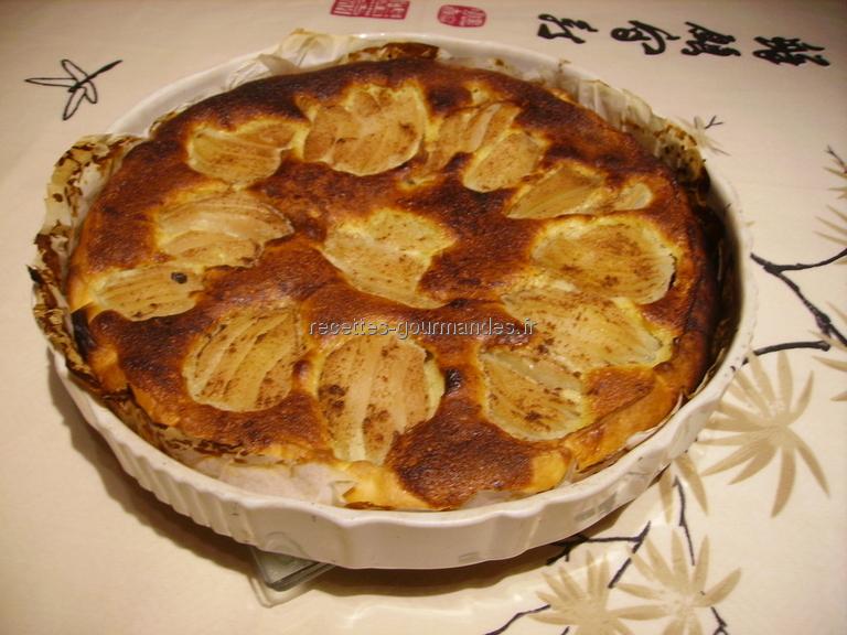 Tarte aux poires et au chocolat - Recette tarte aux chocolat ...